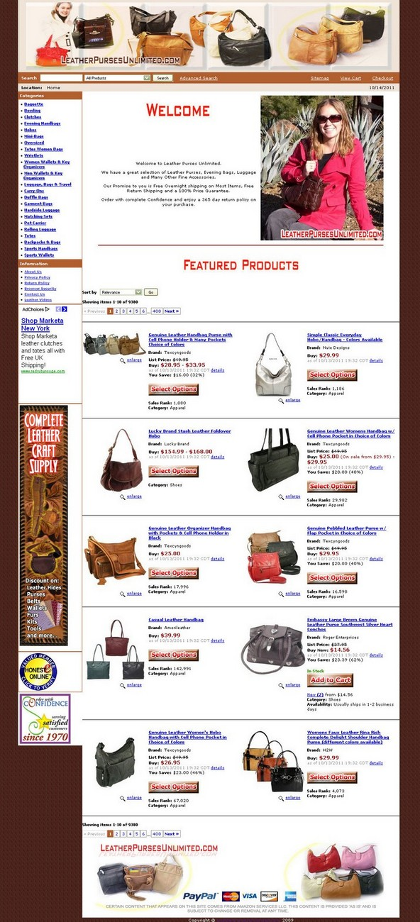 leather purses unlimited